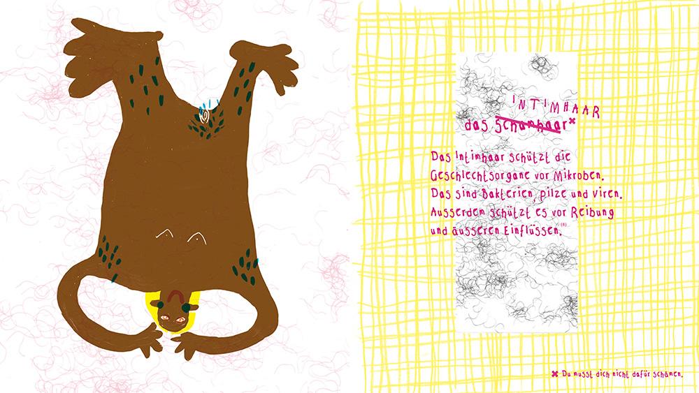 Farbenfroh illustriertes Buch zum Thema Körperbehaarung.