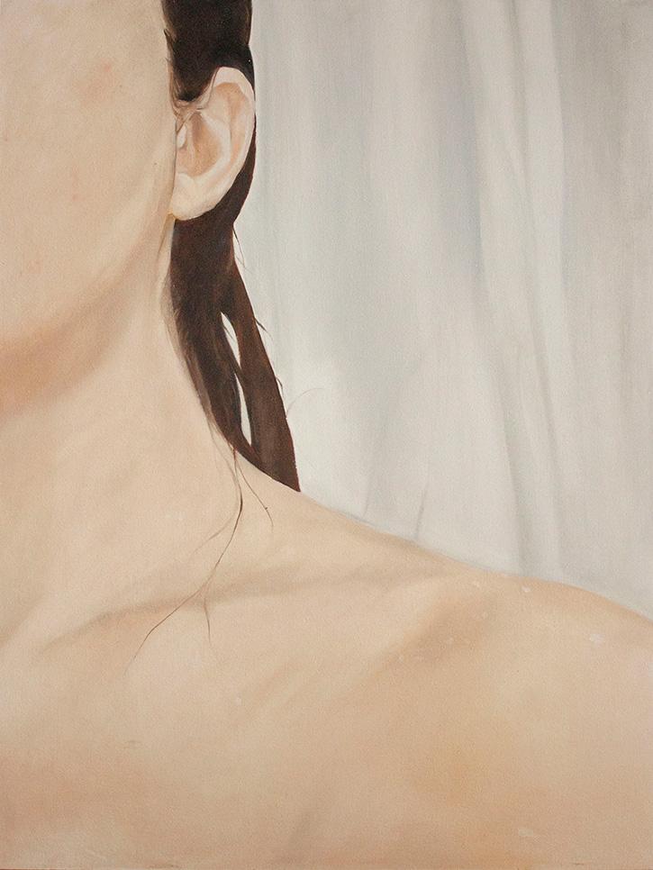 Aktmalerei in Öl, Selbstportrait Körperportrait, Female Gaze